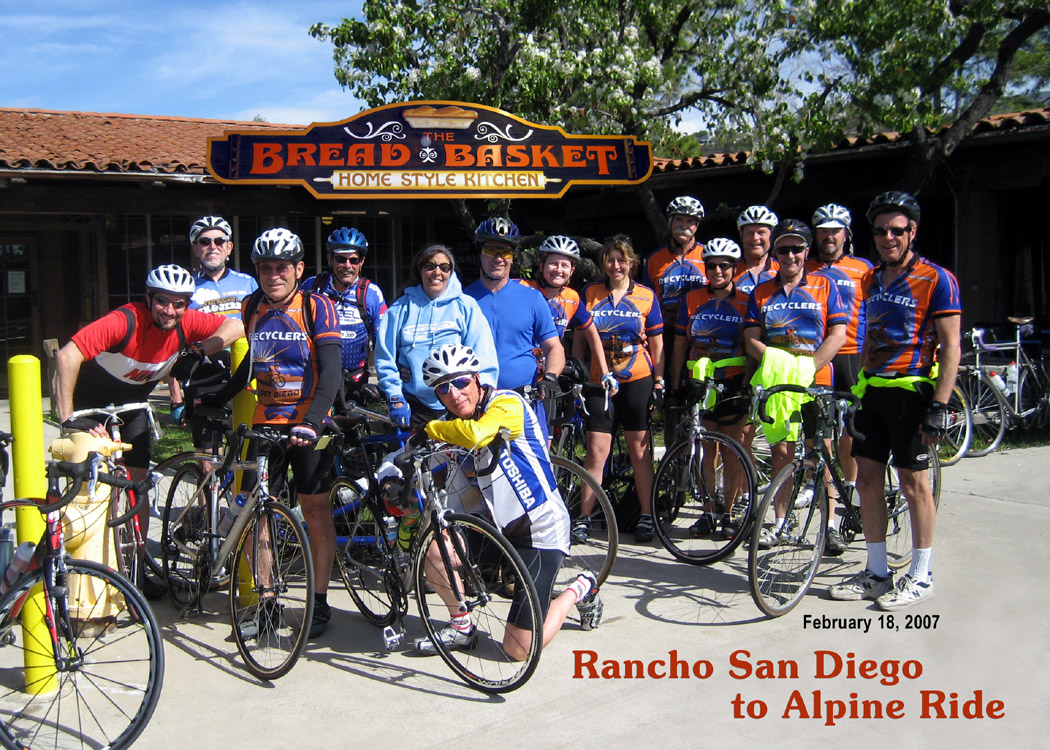 Rancho San Diego to Alpine Ride