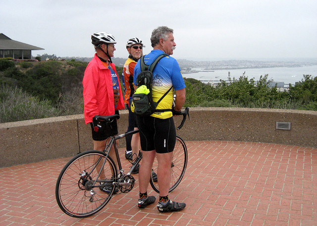 Bernie, Mkie and Tom at Cabrillo Monument